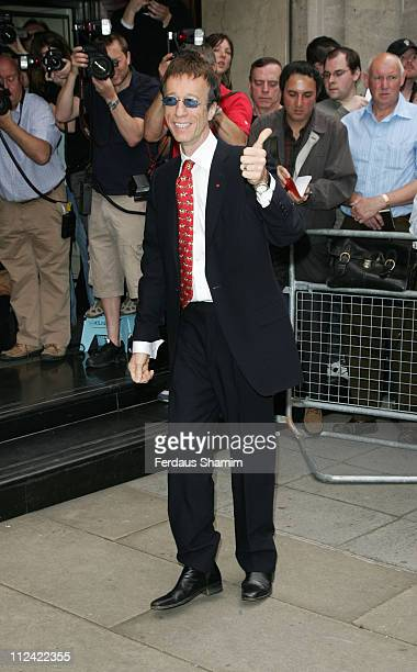 Robin Gibb during Ivor Novello Awards Outside Arrivals at Grosvenor House in London Great Britain
