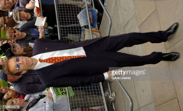 Robin Gibb during Ivor Novello Awards – Outside Arrivals at Grosvenor House in London Great Britain