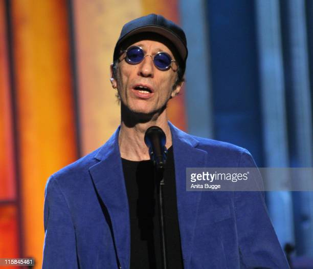 Robin Gibb during Jose Carreras Gala Dress Rehearsal in Berlin Berlin Germany