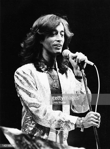 Robin Gibb of the Bee Gees appears in 1979 at Dodger Stadium