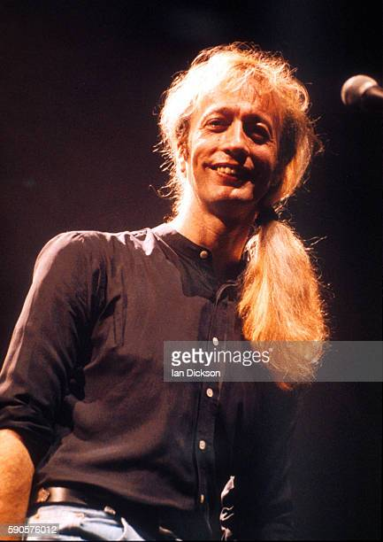 Robin Gibb of the Bee Gees performing on stage at Wembley Arena London 1 June 1989