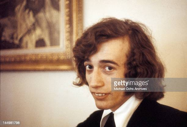 Robin Gibb of the pop group The Bee Gees poses for a portrait circa 1970