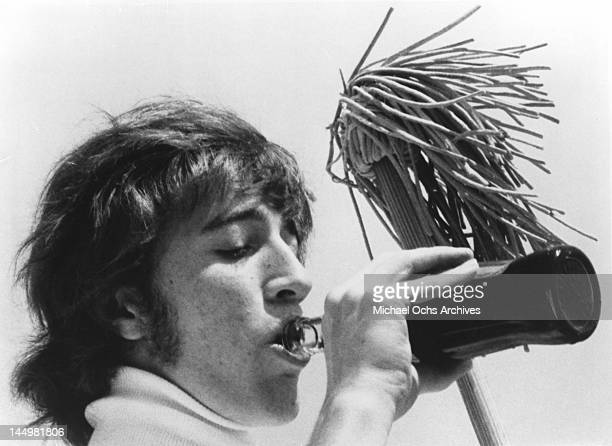 Robin Gibb of the pop group The Bee Gees poses for an Atco Records publicity still circa 1972