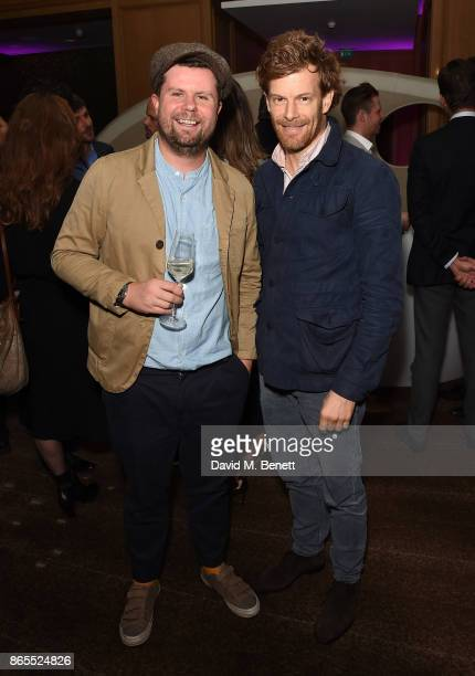 Robin Gill and Tom Aikens attend 10th anniversary of Alain Ducasse at The Dorchester on October 23 2017 in London England