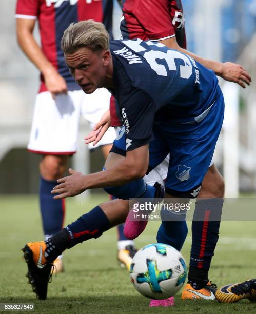 Robin Hack of Hoffenheim battle for the ball during the preseason friendly match between TSG 1899 Hoffenheim and FC Bologna on August 5 2017 in...