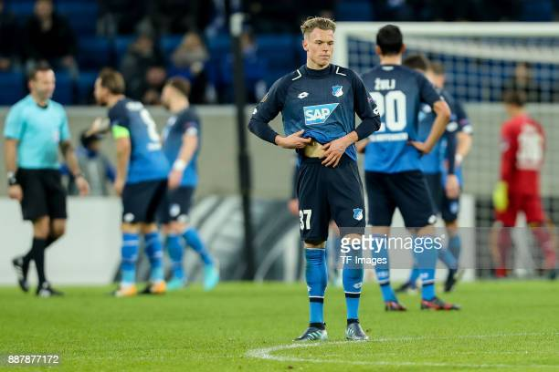 Robin Hack of Hoffenheim looks dejected during the UEFA Europa League group C match between 1899 Hoffenheim and PFC Ludogorets Razgrad at Wirsol...