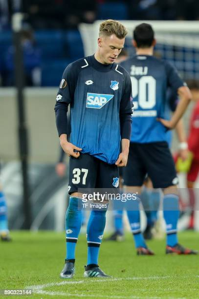 Robin Hack of Hoffenheim looks on during the UEFA Europa League group C match between 1899 Hoffenheim and PFC Ludogorets Razgrad at Wirsol...