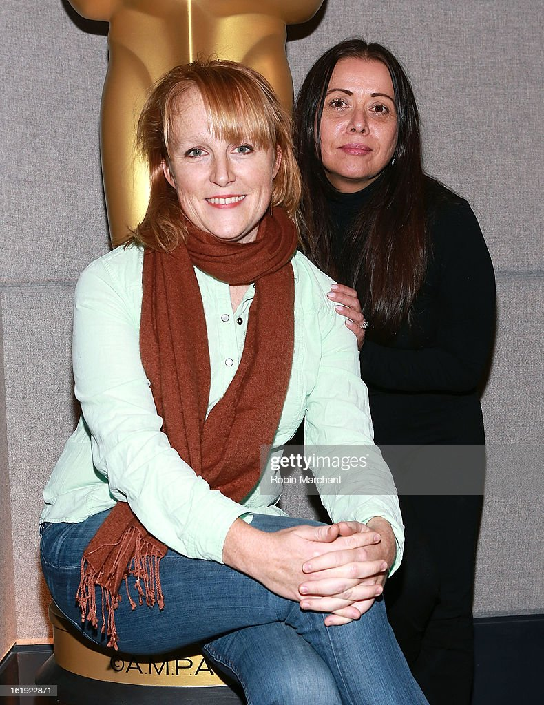 Robin Honan (L) and Rachel Delmolfetto attend Oscar Celebrates: Documentary Short Subjects at the Academy Theater at Lighthouse International on February 17, 2013 in New York City.
