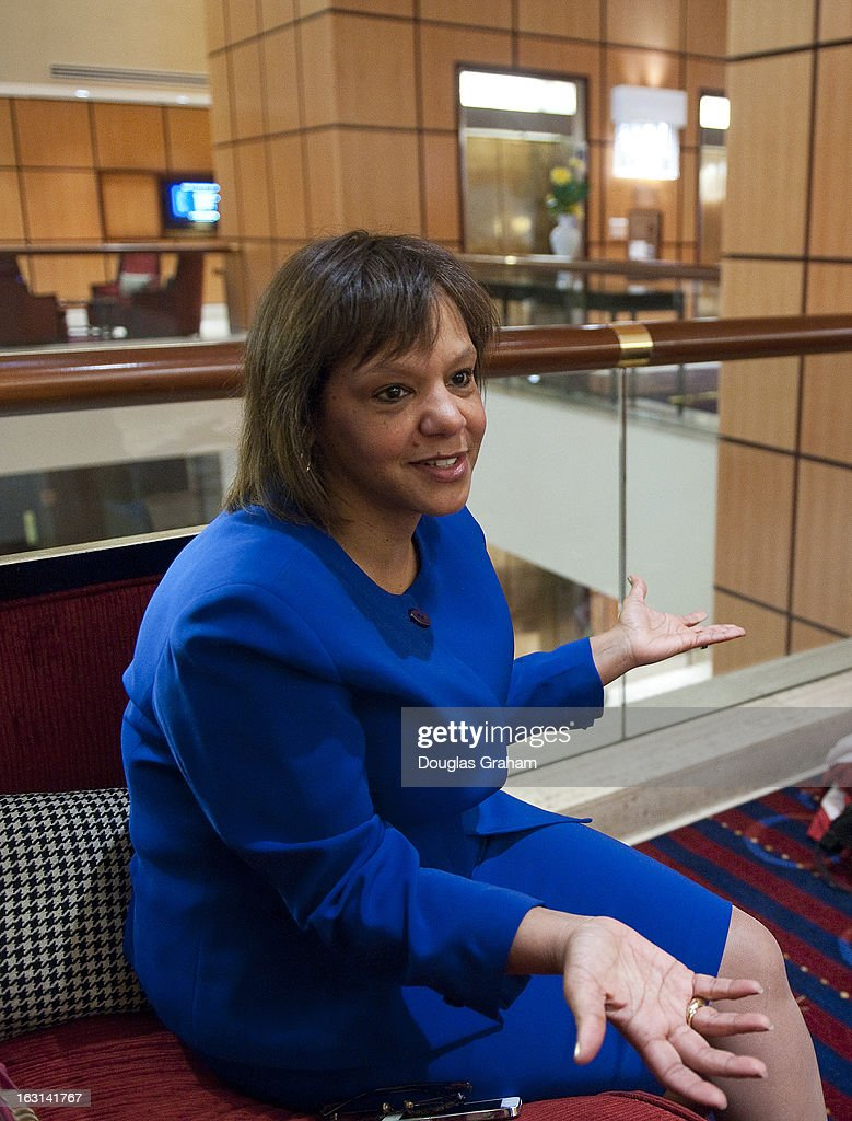 Robin Kelly the Democratic nomination to succeed Jesse Jackson Jr. during an interview at the JW Marriott on Pennsylvania Ave. in Washington, D.C. She is all but certain to win the general election and will be a future member of Congress.