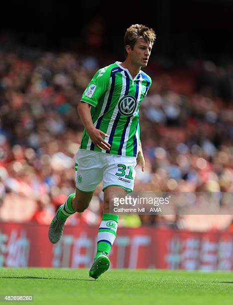 Robin Knoche of Wolfsburg during the Emirates Cup match between VfL Wolfsburg and Villarreal at Emirates Stadium on July 25 2015 in London England