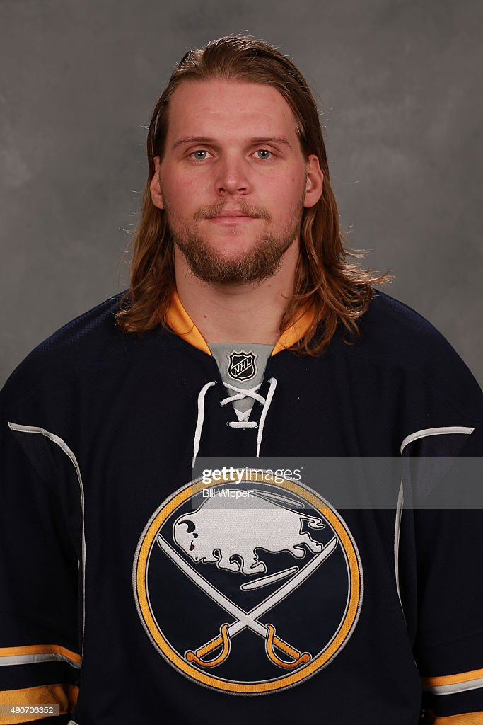 <a gi-track='captionPersonalityLinkClicked' href=/galleries/search?phrase=Robin+Lehner&family=editorial&specificpeople=5894610 ng-click='$event.stopPropagation()'>Robin Lehner</a> of the Buffalo Sabres poses for his official headshot for the 2015-2016 season on September 17, 2015 at the First Niagara Center in Buffalo, New York.