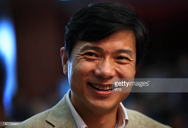 Robin Li Chairman and CEO of Baidu Inc looks on during the 2011 Tsinghua Management Global Forum at Tsinghua SEM Auditorium on October 25 2011 in...