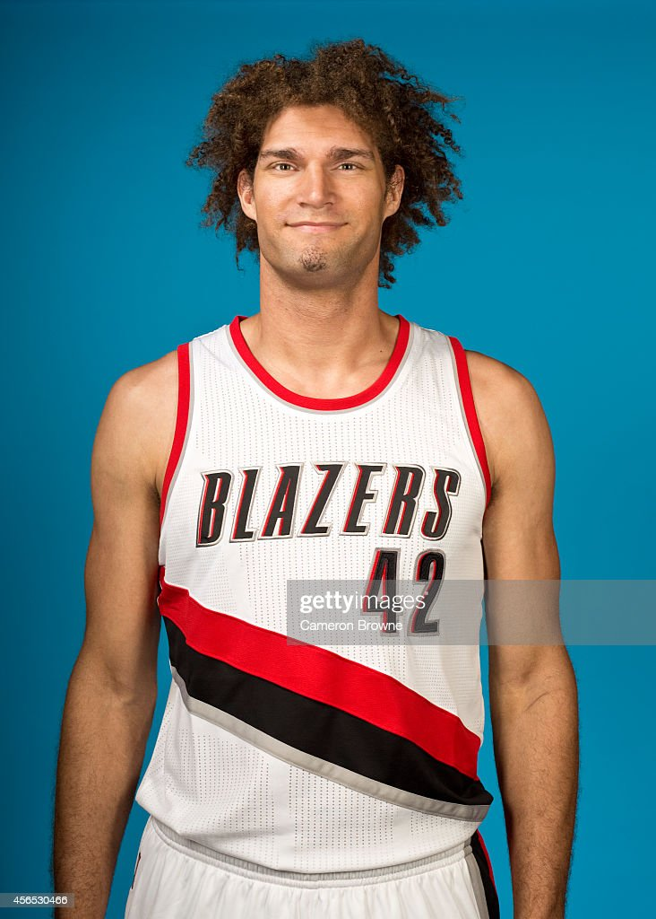 Robin Lopez of the Portland Trail Blazers poses for a photo during Media Day on September 29 2014 at the Moda Center Arena in Portland Oregon NOTE TO...