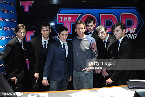 Robin Lord Taylor and Todd Pettengill attend The Todd Show for the'Gotham' Oswald Cobblepot New York City Takeover on September 22 2014 in New York...