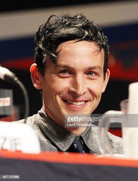 Robin Lord Taylor attends the 'Gotham' Panel at 2014 New York Comic Con Day 4 at Jacob Javitz Center on October 12 2014 in New York City