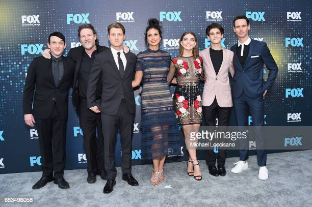 Robin Lord Taylor Donal Logue Ben McKenzie Morena Baccarin Camren Baccandova David Mazouz and Cory Michael Smith attend the 2017 FOX Upfront at...