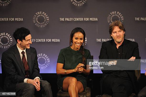 Robin Lord Taylor Jada Pinkett Smith and Donal Logue attend the 2nd annual Paleyfest New York Presents 'Gotham' at Paley Center For Media on October...