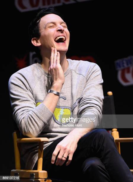 Robin Lord Taylor speaks onstage at the Gotham Panel during the 2017 New York Comic Con on October 8 2017 in New York City
