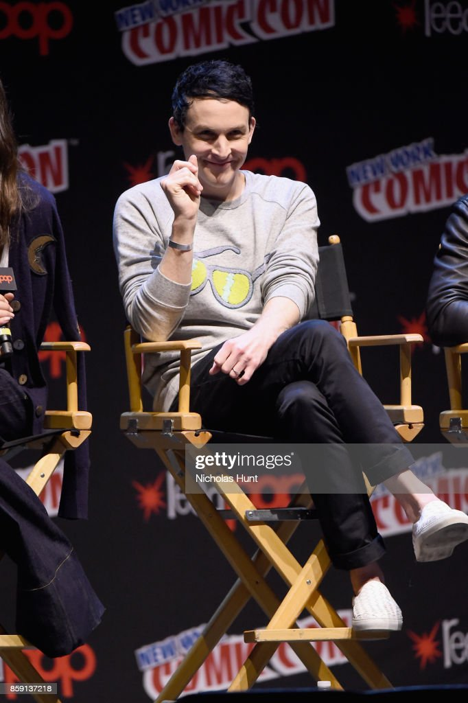 Robin Lord Taylor speaks onstage at the Gotham Panel during the 2017 New York Comic Con on October 8, 2017 in New York City.