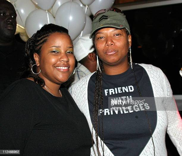 Robin Lyons and Queen Latifah during Robin Lyons Birthday Party August 22 2005 at H20 in Washington DC United States