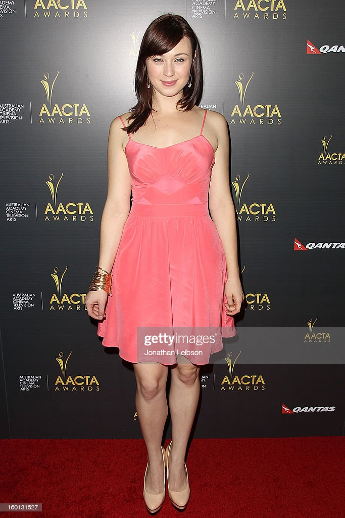 Robin McLeavy attends the 2nd AACTA International Awards at Soho House on January 26, 2013 in West Hollywood, California.