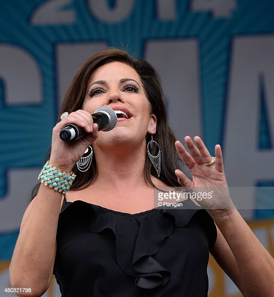 Robin Meade performs during the 2014 CMA Festival at LP Field on June 8 2014 in Nashville Tennessee