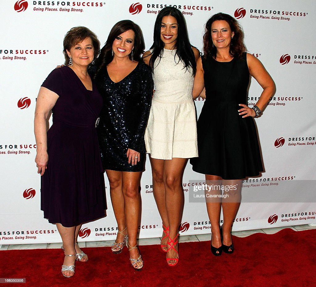 dress for success robin meade sharon meade jordin sparks and jodi sparks attend dress for success