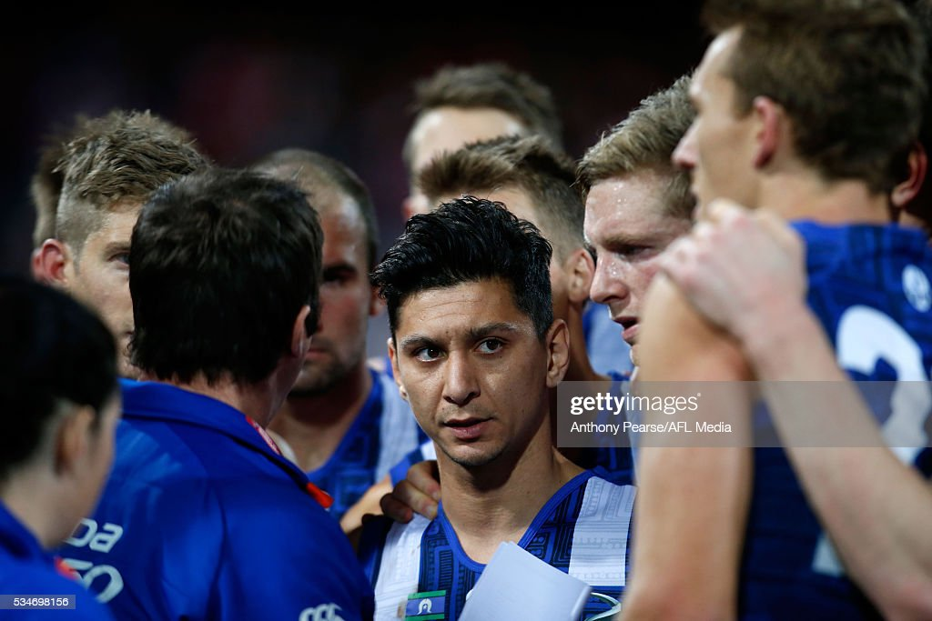 Robin Nahas of the Roos at three quarter time during the 2016 AFL Round 10 match between the Sydney Swans and the North Melbourne Kangaroos at the Sydney Cricket Ground on May 27, 2016 in Sydney, Australia.