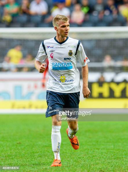 Robin Nilsson of Gefle IF in action during the Swedish Allsvenskan League match between AIK and Gefle IF at the Friends Arena on August 102014 in...