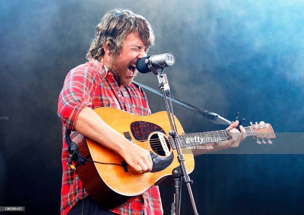Robin Pecknold of Fleet Foxes performs on stage on day two of the Falls Music Festival on December 30 2011 in Lorne Australia