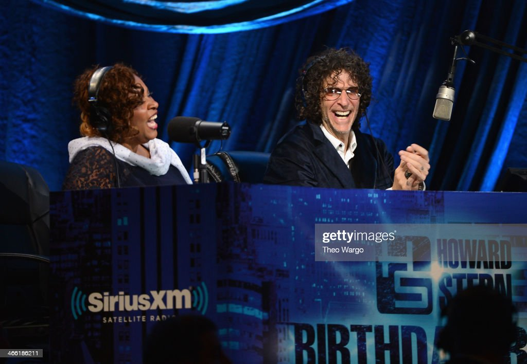 Robin Quivers and Howard Stern attend 'Howard Stern's Birthday Bash' presented by SiriusXM produced by Howard Stern Productions at Hammerstein...