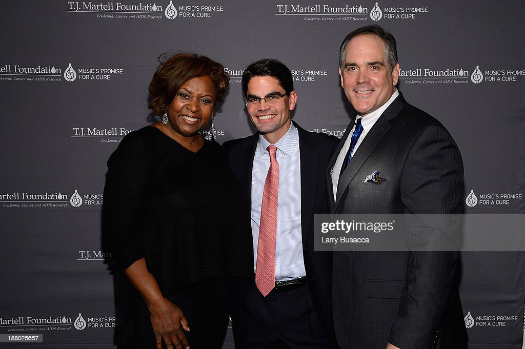 Robin Quivers, Honoree Kevin Mata, Bruce Gearhart and Christopher Mattioli attend T.J. Martell Foundation's Annual World Tour of Wine Dinner at The Angel Orensanz Foundation on November 14, 2013 in New York City.