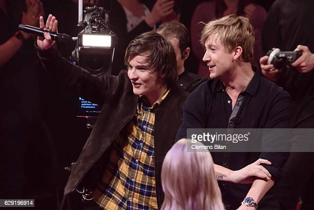 Robin Resch and Samu Haber attend the 'The Voice of Germany' semi finals on December 11 2016 in Berlin Germany The finals will be aired on December...
