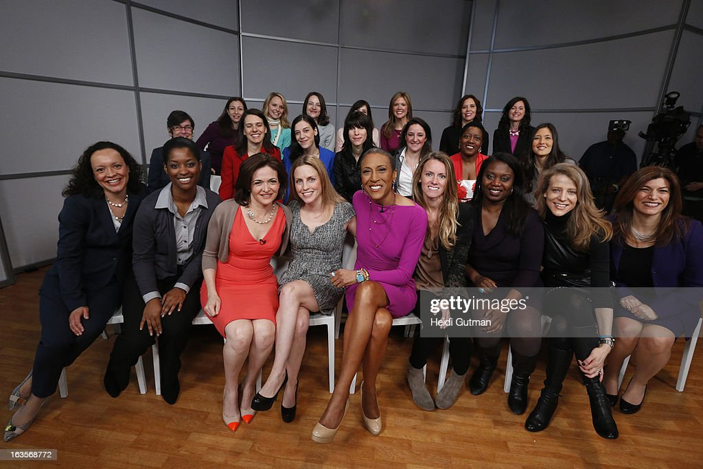 AMERICA - Robin Roberts and Chief Operating Officer of Facebook, Sheryl Sandberg, take questions from a group of women at GOOD MORNING AMERICA, which will air on TUESDAY, MARCH 12 (7-9am, ET) on the ABC Television Network. (Photo by Heidi Gutman/ABC via Getty Images) ROBIN