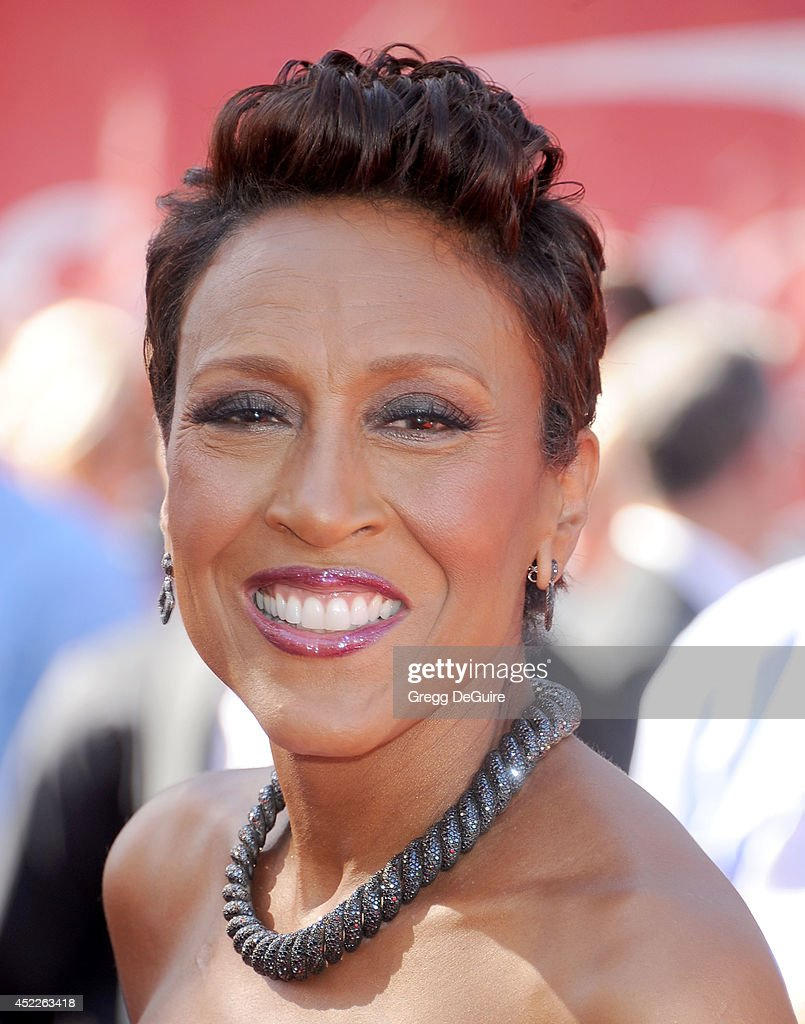 <a gi-track='captionPersonalityLinkClicked' href=/galleries/search?phrase=Robin+Roberts+-+Television+Anchor&family=editorial&specificpeople=4439371 ng-click='$event.stopPropagation()'>Robin Roberts</a> arrives at the 2014 ESPY Awards at Nokia Theatre L.A. Live on July 16, 2014 in Los Angeles, California.