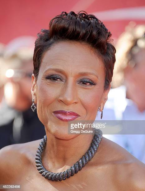 Robin Roberts arrives at the 2014 ESPY Awards at Nokia Theatre LA Live on July 16 2014 in Los Angeles California