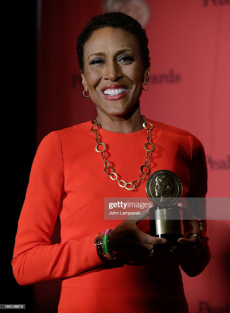 <a gi-track='captionPersonalityLinkClicked' href=/galleries/search?phrase=Robin+Roberts+-+Television+Anchor&family=editorial&specificpeople=4439371 ng-click='$event.stopPropagation()'>Robin Roberts</a> attends 72nd Annual George Foster Peabody Awards at The Waldorf=Astoria on May 20, 2013 in New York City.