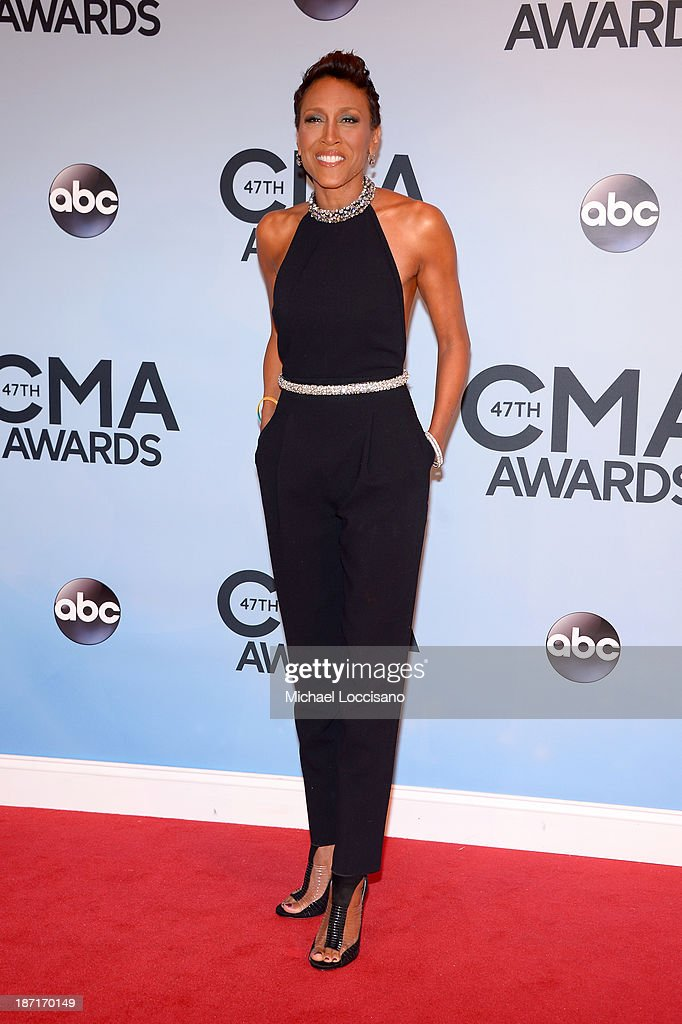 Robin Roberts attends the 47th annual CMA Awards at the Bridgestone Arena on November 6, 2013 in Nashville, Tennessee.