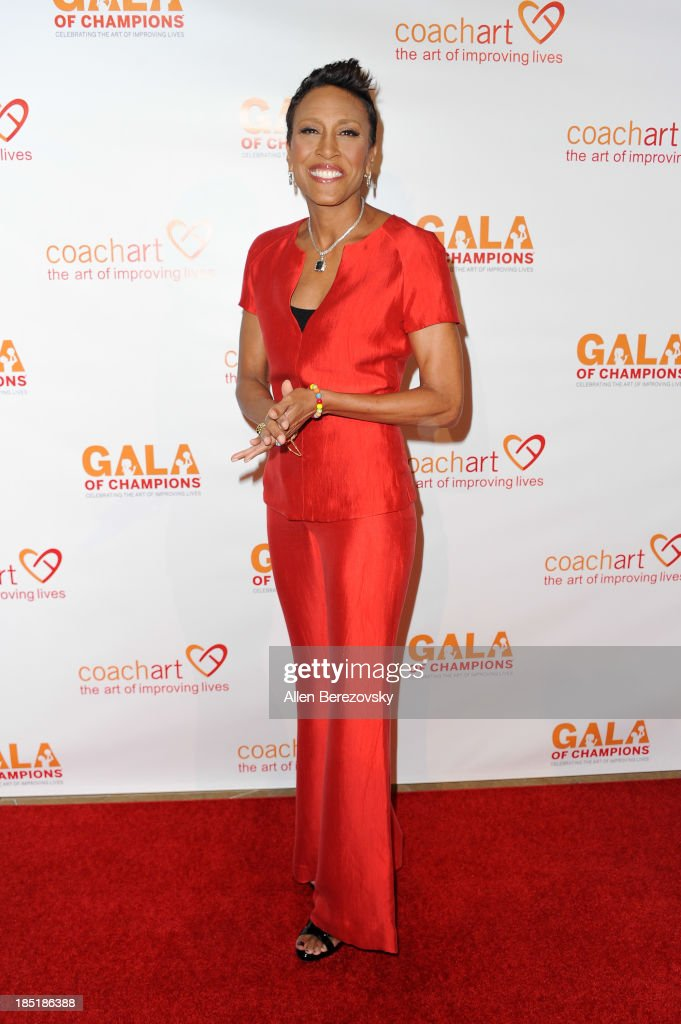 <a gi-track='captionPersonalityLinkClicked' href=/galleries/search?phrase=Robin+Roberts+-+Television+Anchor&family=editorial&specificpeople=4439371 ng-click='$event.stopPropagation()'>Robin Roberts</a> attends the CoachArt Gala of Champions at The Beverly Hilton Hotel on October 17, 2013 in Beverly Hills, California.