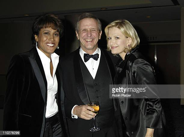Robin Roberts Charlie Gibson and Diane Sawyer during Robert Iger Honored by The National Academy at The New York Marriott Marquis Hotel in New York...