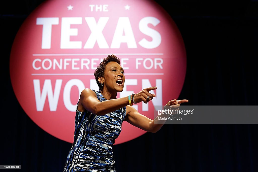 Robin Roberts gives the keynote speech during the Texas Conference for Women at the Austin Convention Center on October 15 2015 in Austin Texas