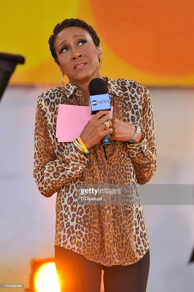 Robin Roberts hosts ABC's 'Good Morning America' at Rumsey Playfield on June 21, 2013 in New York City.