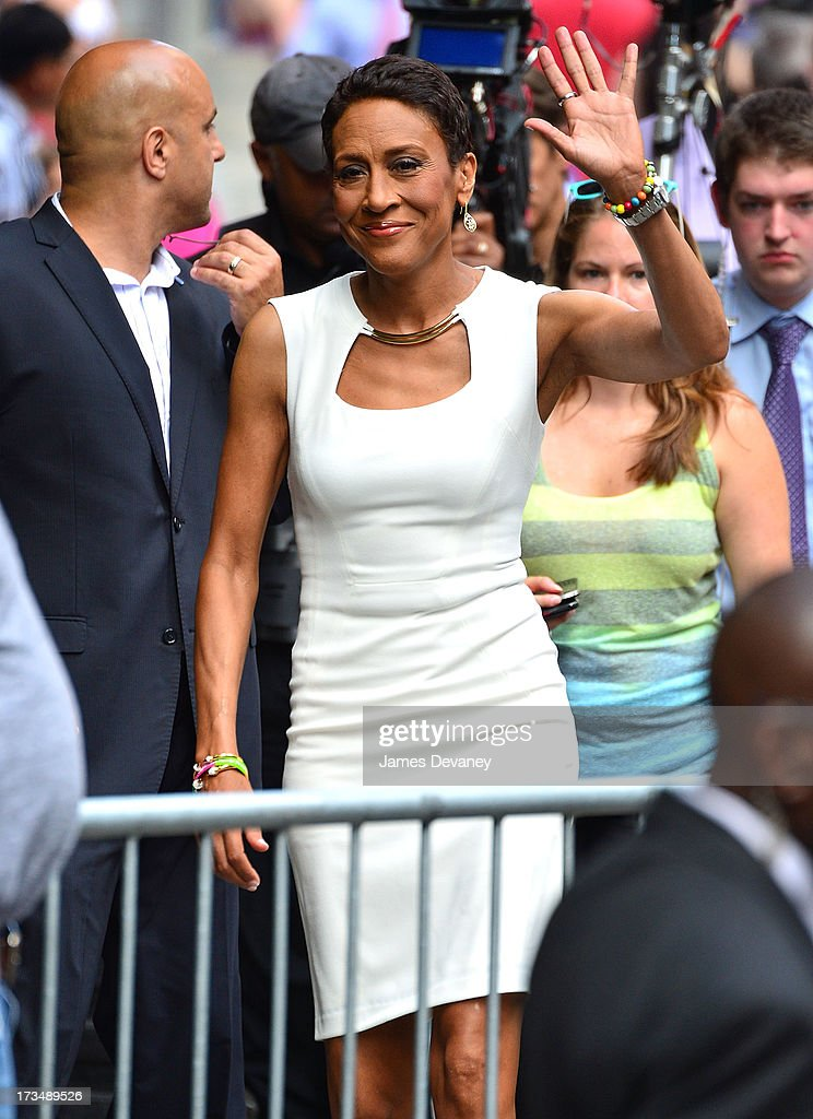 Robin Roberts hosts ABC's 'Good Morning America' on July 15, 2013 in New York, United States.