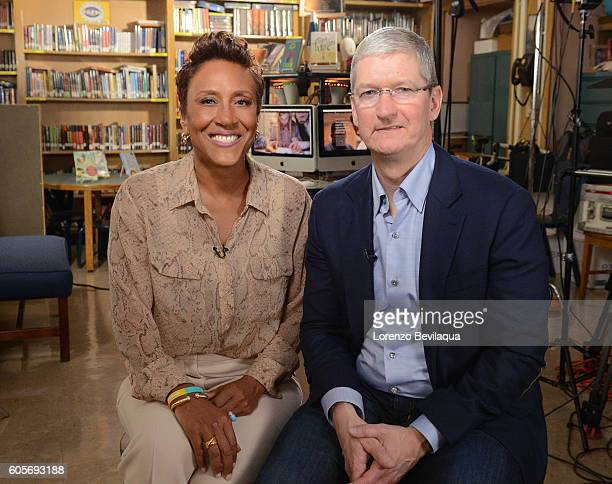 AMERICA Robin Roberts interviews Apple CEO Tim Cook at PS 161 Pedro Albizu Campos School in Harlem The interview will air on 'Good Morning America'...