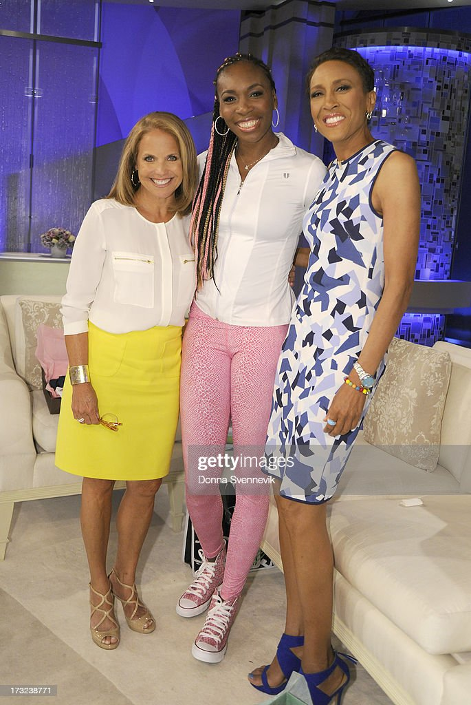 KATIE - 7/11/13 - Robin Roberts is a guest co-host for a special hour devoted to Title Nine, which created new scholarship opportunities for female athletes, airing on KATIE, distributed by Disney-ABC Domestic Television. (Photo by Donna Svennevik/ABC via Getty Images) KATIE COURIC, VENUS WILLIAMS, ROBIN ROBERTS