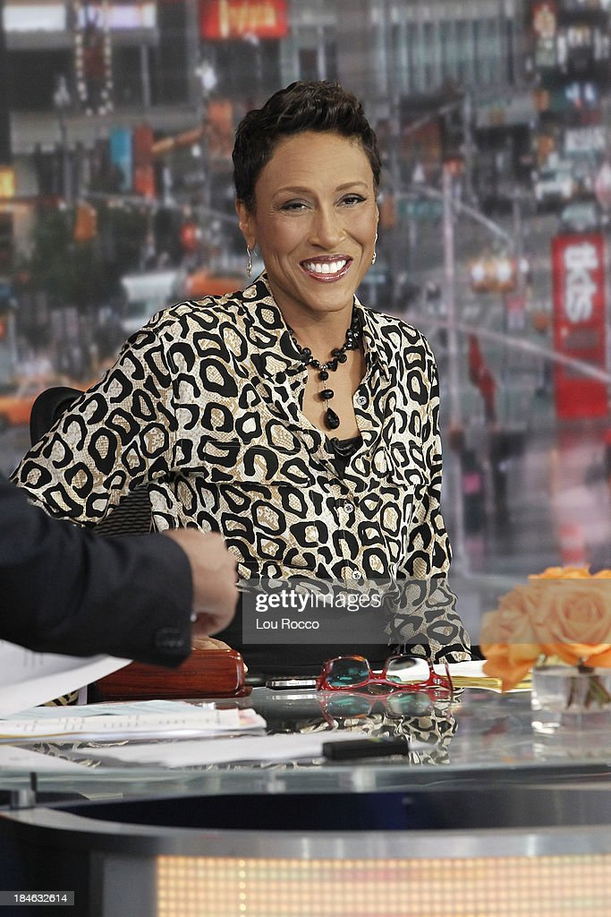 AMERICA - Robin Roberts on 'Good Morning America,' 10/10/13, airing on the ABC Television Network. ROBIN