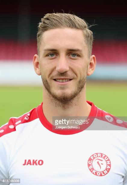 Robin Scheu of Fortuna Koeln poses during the team presentation at Suedstadion on July 12 2017 in Cologne Germany
