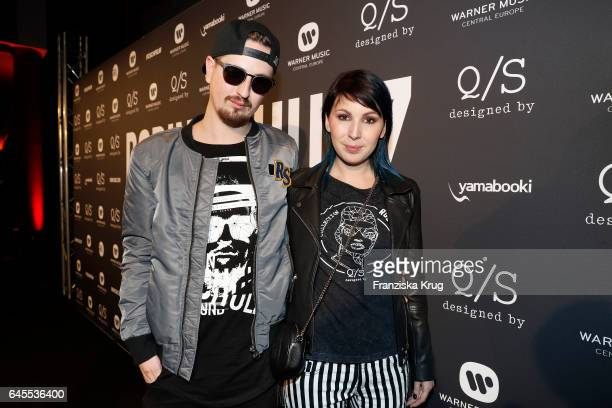 Robin Schulz and his girlfriend Lia Markmeyer during the 'Robin Schulz The Movie' world premiere at Cinemaxx on February 24 2017 in Hamburg Germany
