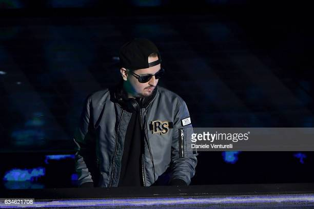 Robin Schulz attends the fourth night of the 67th Sanremo Festival 2017 at Teatro Ariston on February 10 2017 in Sanremo Italy