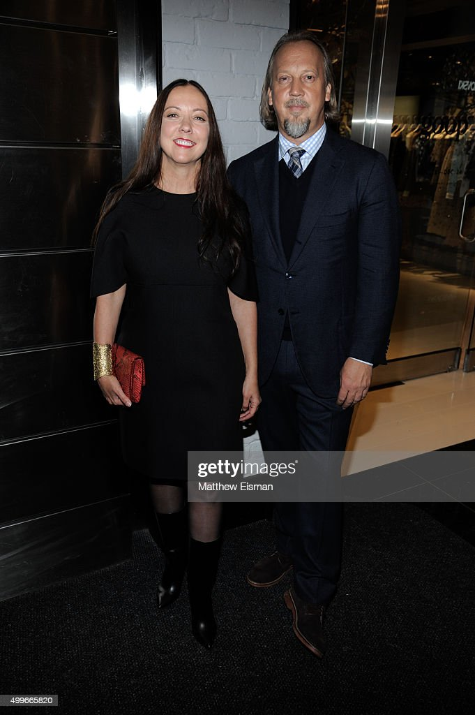 Robin Standefer (L) and Stephen Alesch attend the goop mrkt grand opening event at The Shops at Columbus Circle on December 2, 2015 in New York City.